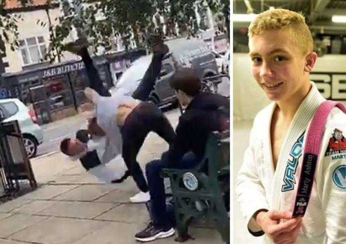 Un inconnu a tenté d'agresser Alex Williams, 16 ans, pendant sa pause déjeuner.  L'adolescent, quatre fois champion du monde de jujitsu brésilien et champion de MMA, n'a pas paniqué.