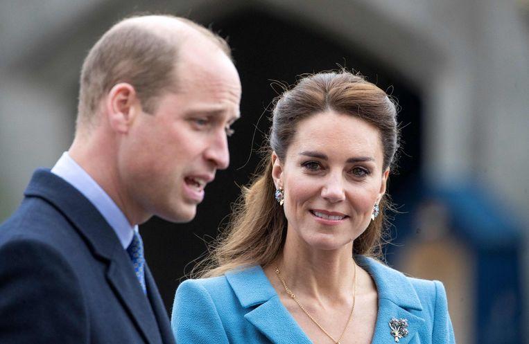 De Britse prins William en zijn vrouw Kate in Edinburgh. Beeld AFP