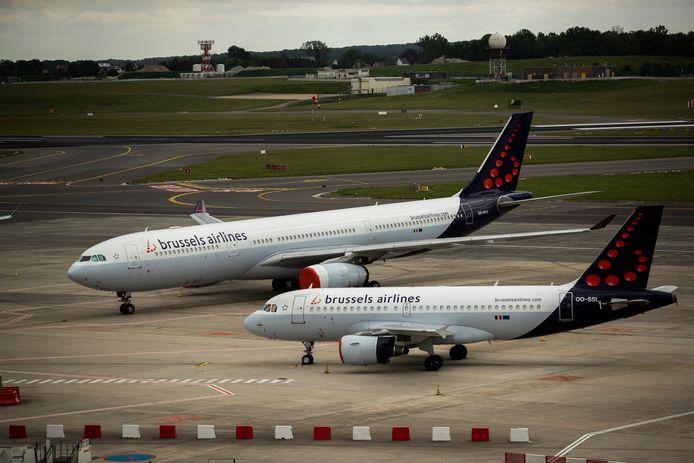 Deux avions Brussels Airlines sur le tarmac de l'aéroport de Zaventem.