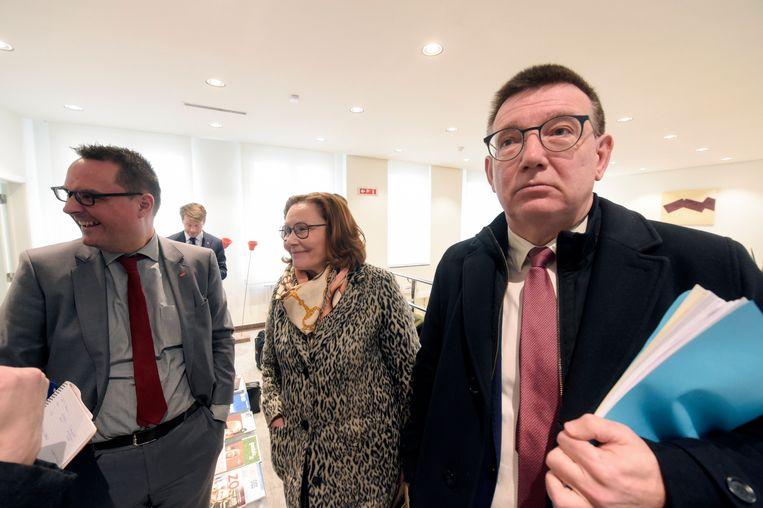 Hans Maertens (rechts), gedelegeerd bestuurder van Voka, nam begin februari deel aan de eerste vergadering van de economische taskforce samengeroepen door Vlaams minister-president Jan Jambon (N-VA) in Brussel.