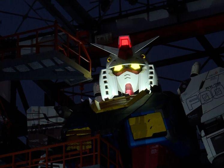Japanse robot van 18 meter hoog zet eerste stapjes