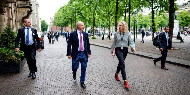 De Amerikaan Bill Browder, ceo van Hermitage Capital Management, kwam naar Den Haag op uitnodiging van de Commissie Buitenlandse Zaken om spreken over de Magnitsky-wet. Beeld Freek van den Bergh / de Volkskrant