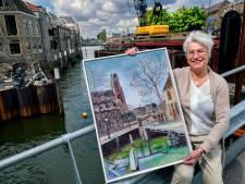 Schilderij Engelenburgerbrug levert Dordrecht 350 euro op: 'Een Dordtenaar is er ontzettend blij mee'
