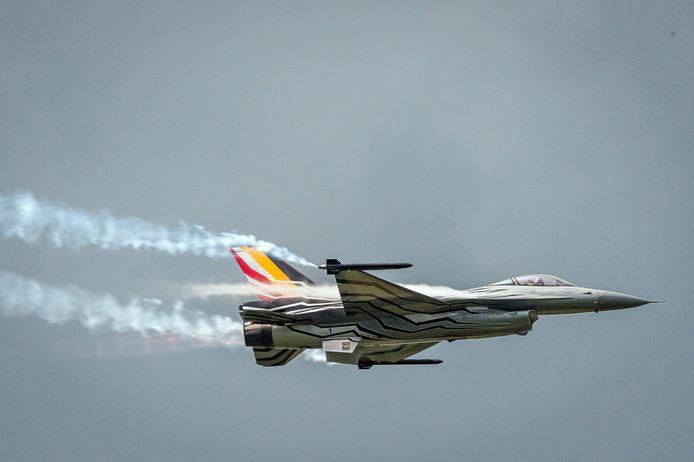 Un F-16 de l'armée belge.