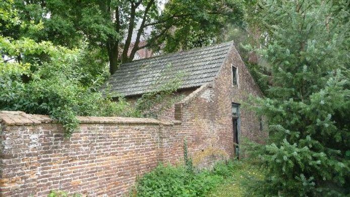 Het baarhuisje in Berghem bij de kerk. Foto Hans van Alebeek