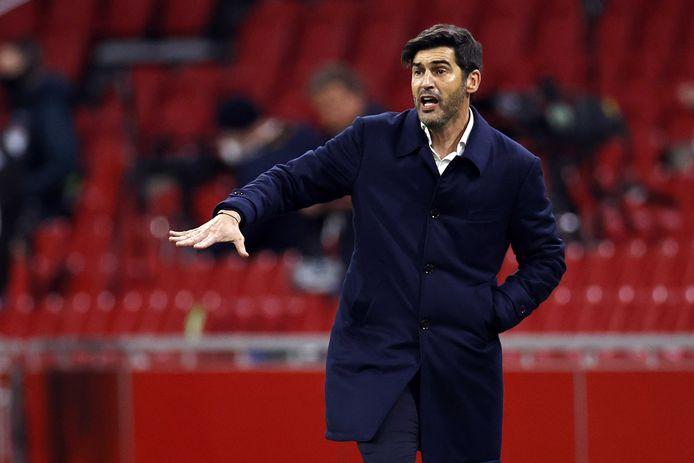 AS Roma-coach Paulo Fonseca