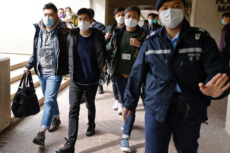 Ook de pro-democratische activist Lester Shum werd woensdag gearresteerd.  Beeld REUTERS