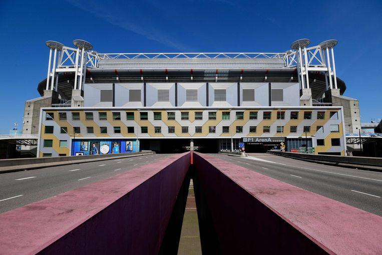 In de Johan Cruijff Arena worden vier wedstrijden van het EK voetbal afgewerkt. Beeld AFP