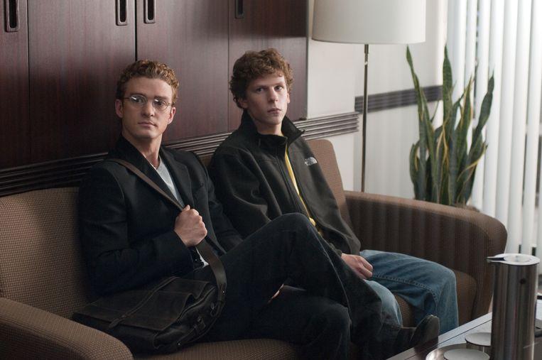 Justin Timberlake (l.) in 'The Social Network'. Beeld AP