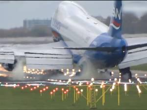 Harde landing Boeing 747 Schiphol