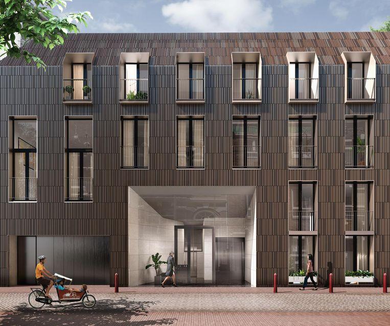 Aan de Kerkstraat komt een nieuwbouwpand met zes appartementen. Beeld COD