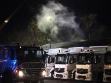 Brand in fietsenhok slaat over naar bedrijfskantine in Eerbeek
