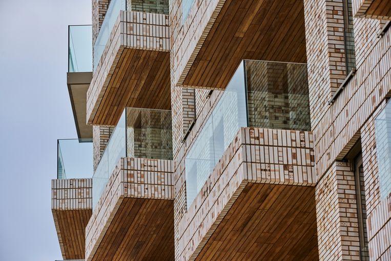 Nieuwbouwproject op de Cruquiusweg in Amsterdam waar veel appartementen worden gebouwd. Beeld Hollandse Hoogte / Nico Garstman