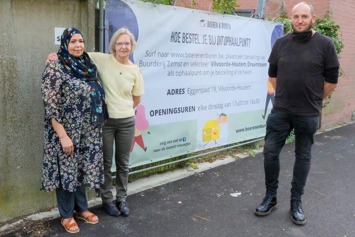 Buurderij Zemst komt naar Vilvoorde Malika Elmrini, Annemie Vrijders, Marc Borremans (stad Vilvoorde)