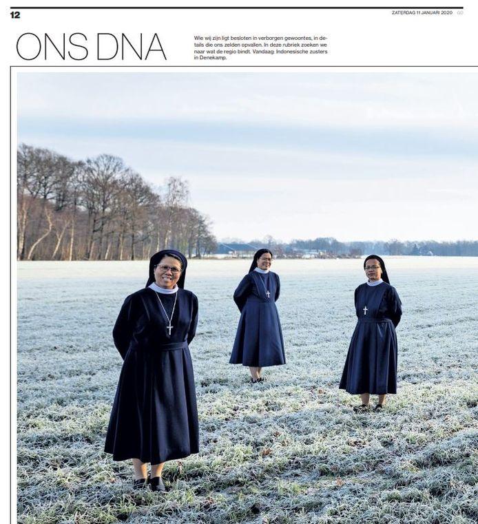 Fotoserie Ons DNA, wekelijks in de Z-bijlage van Tubantia.