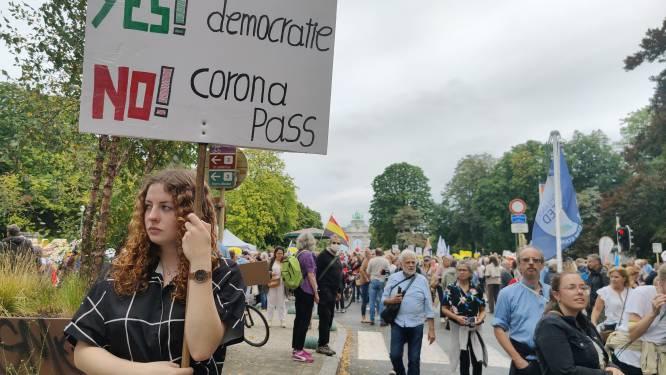 3.500 coronacritici protesteren in Brussel: voorlopig geen incidenten