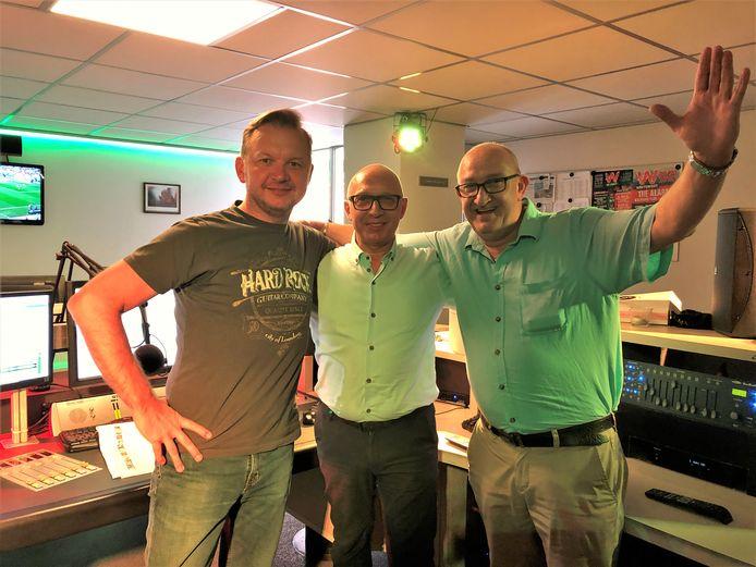Giovanni Ferarra, Erwin Jacobs en Chris Karasiewicz maken zaterdag samen radio bij LRL in Lanaken.