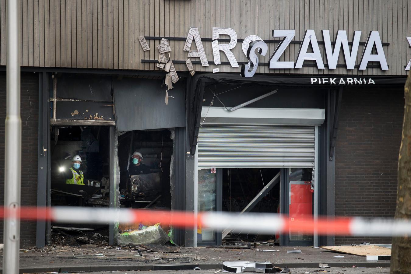 Explosie bij Poolse supermarkt in Tilburg.