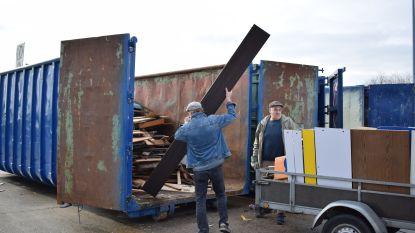 Betalend gedeelte recyclagepark dicht