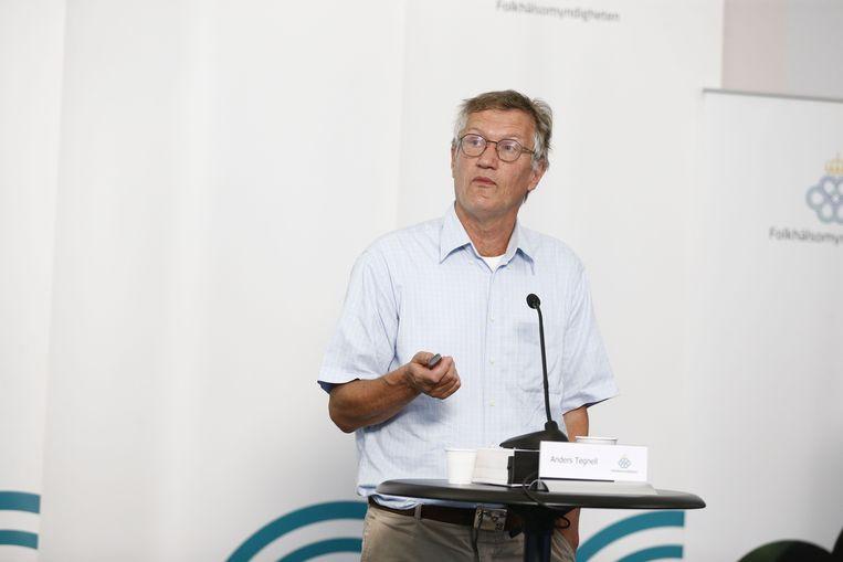 Anders Tegnell, de staatsepidemioloog van Zweden. Beeld AFP