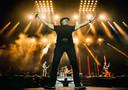 ACDC-zanger Brian Johnson, die als verrassing een nummer met Muse meedeed tijdens het optreden op het Reading-festival.