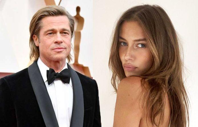 Brad Pitt en Nicole Poturalski, een 27-jarig model uit Duitsland.