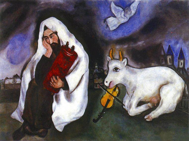 Solitude (1933) van Marc Chagall, vanaf 15 december zes weken te zien in De Nieuwe Kerk. © TEL AVIV MUSEUM Beeld