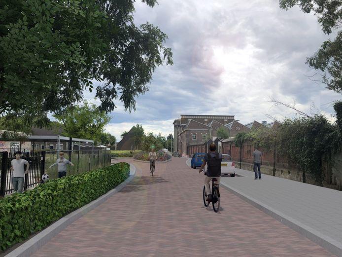 De Lange Nieuwstraat zoals het moet worden, met veel meer groen.