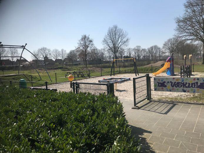 In de buurt van dit speeltuintje komt in Venhorst uitbreidingswijk De Voskuilen