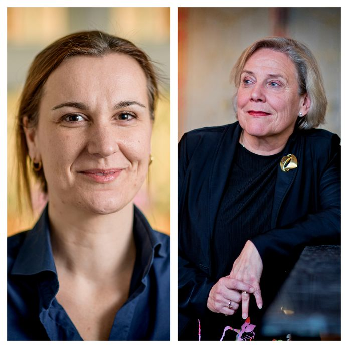 Links: huisarts Marieke Nijhof. Rechts: minister van Defensie Ank Bijleveld.