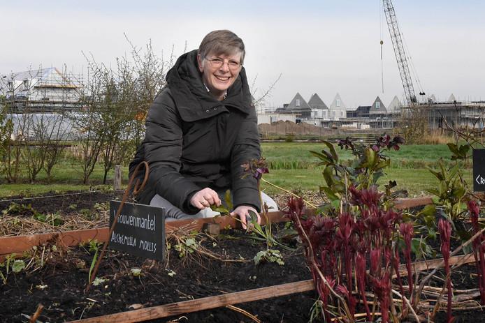 Esther van de Bor is als voorzitter van de stichting Duurzaam Bodegraven-Reeuwijk ook actief in de tuin Hortus Populus.