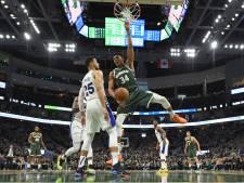Sixers kloppen Bucks ondanks record Giannis