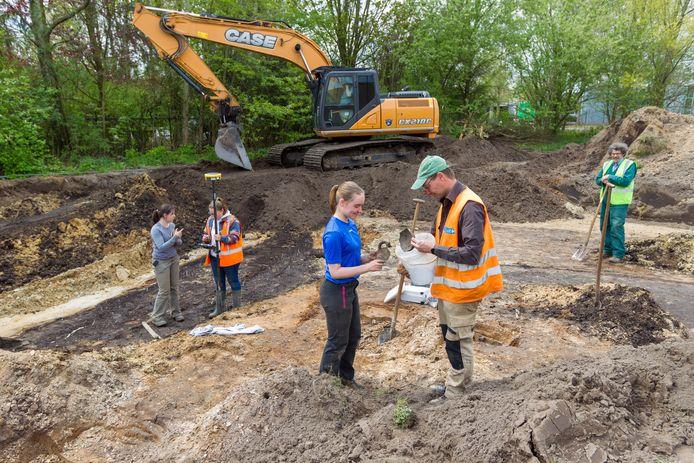 Archeologische opgravingen in Nuenen.