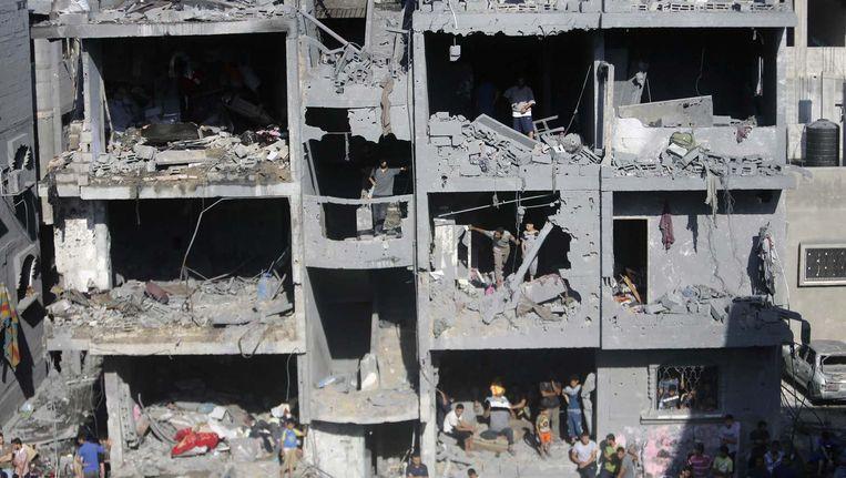 Bij Israëlische bombardementen op Gaza zijn sinds begin juli volgens VN-cijfers naar schatting 2030 Palestijnen omgekomen, van wie zo'n 1440 burgers. Beeld reuters
