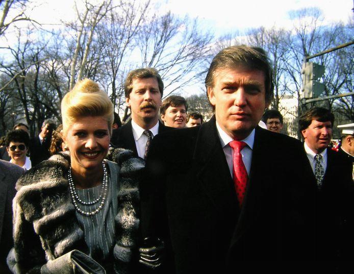 Donald Trump en zijn eerste vrouw Ivana in 1989.