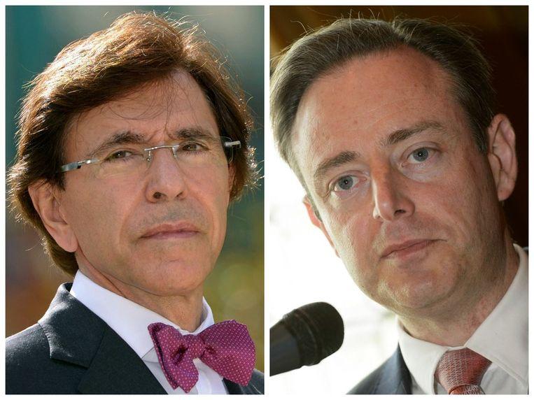 Premier Elio Di Rupo (PS) en Bart De Wever (N-VA). Beeld photo news