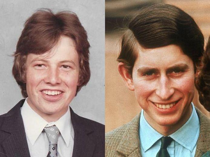 Volgens Simon zijn de uiterlijke gelijkenissen met prins Charles treffend.
