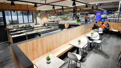 Carrefour laat u lunchen tussen de winkelrekken