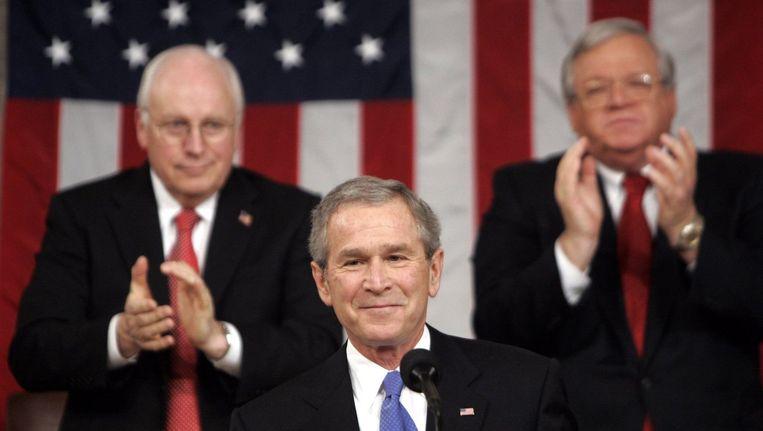 George W. Bush voor het Amerikaanse Huis in 2006.