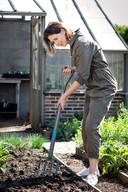 Op lichte grond schoffel je in de lente oppervlakkig, op zware (klei)grond wrik je de aarde los met een spitvork