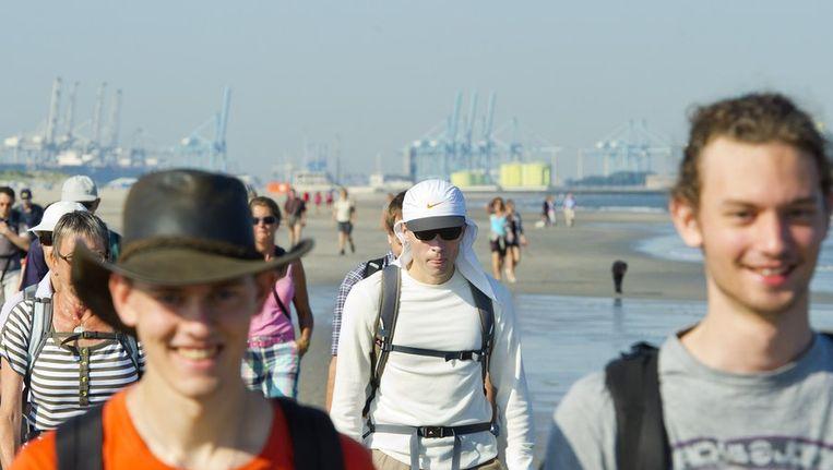 De Strand6Daagse telde bijna 1000 deelnemers. Beeld anp