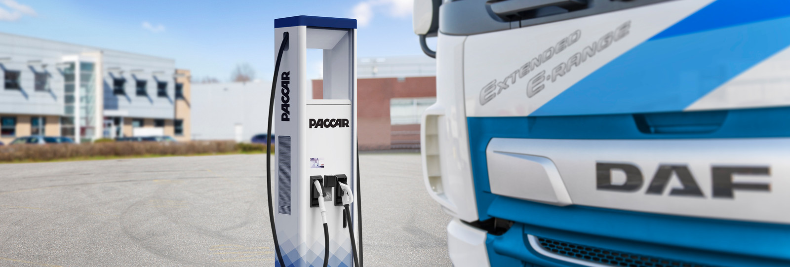 Laadstation van Paccar voor elektrische trucks van DAF.