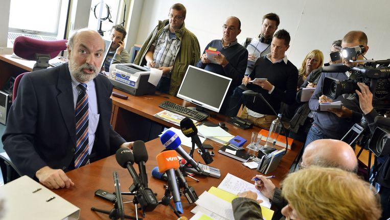 Pierre Magnien tijdens een persconferentie in 2012. Beeld AFP