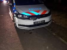 Politieauto knalt onderweg naar drugsincident op ree