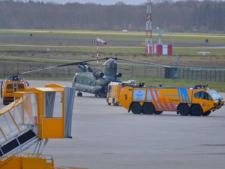 Chinook met technische problemen veilig geland op Eindhoven Airport