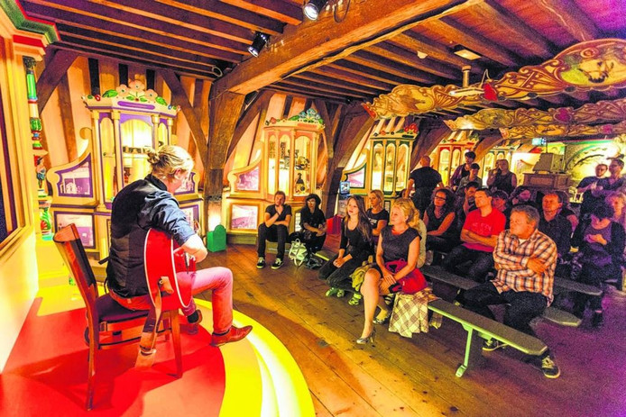 Aidan laat van zich horen in Het Markiezenhof. foto Merijn Sitsen