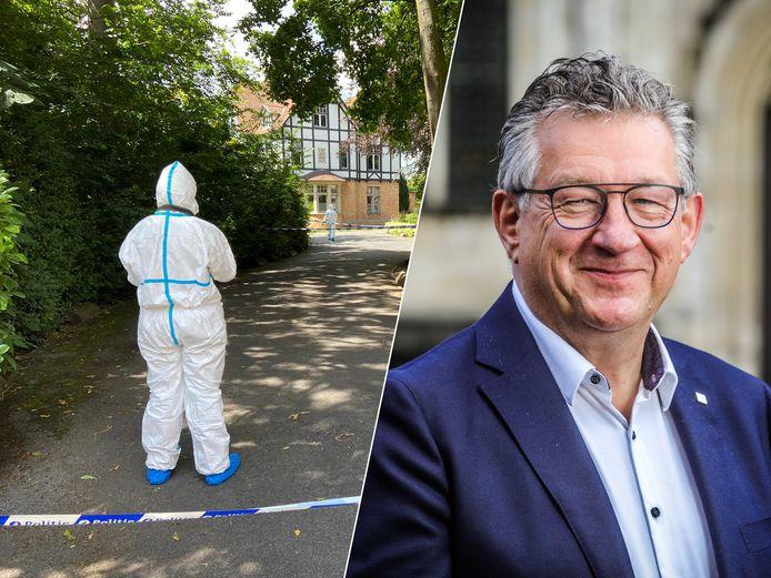Burgemeester De fauw werd neergestoken aan zijn advocatenkantoor.