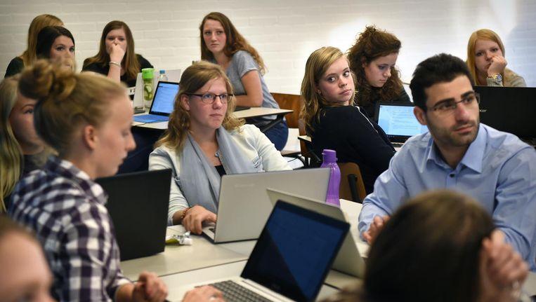 Studenten van Avance Hogeschool in Den Bosch. Beeld Marcel van den Bergh / de Volkskrant