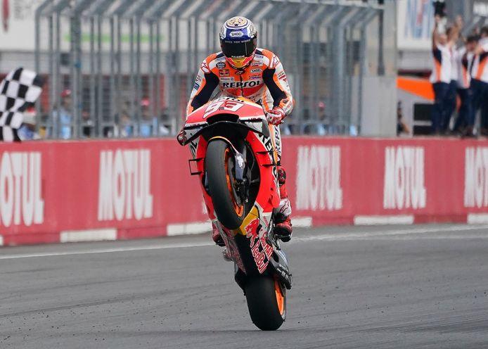 Marc Marquez à l'arrivée du GP du Japon