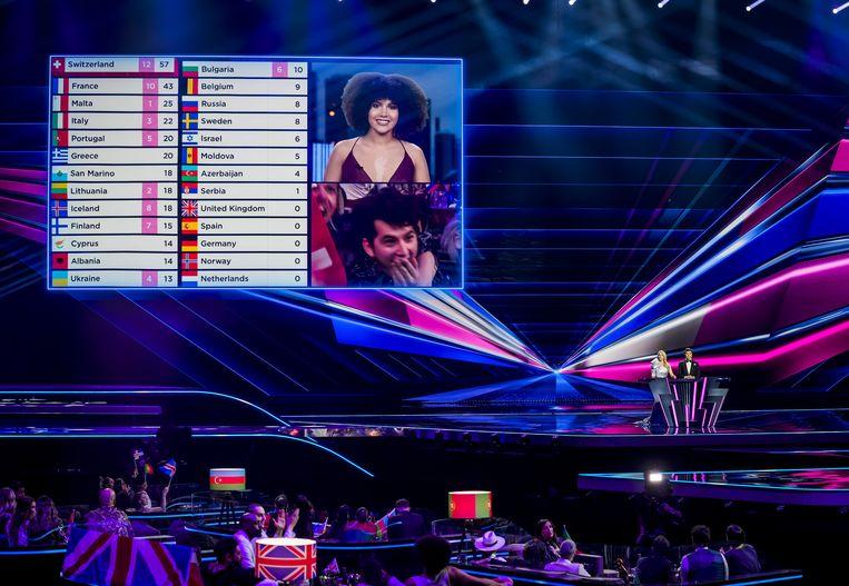 Mogelijk zijn niet alle stemmen goed doorgekomen bij het Songfestival zaterdagavond. Beeld ANP